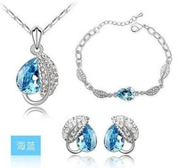 Big Discount!!! 2011 latest fashion Crystal Jewelry, crystal chain necklace, silver jewelry, hot sale rings, free shipping