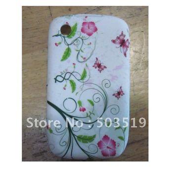 Soft Gel TPU flower cover case for Curve 8520,20pcs