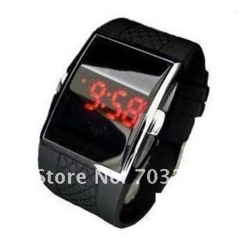 10pcs/lot freeshipping ! Black Sport LED Digital Wrist Watch Mens Unisex fashion lcd watch men watch !
