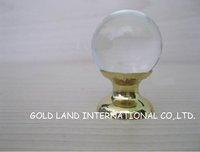 20pc/lot Free shipping D25xH37mm glossy crystal glass ball furniture handle/kitchen knob