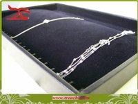 "14"" Jewelry display bracelet holder cradle in black,necklace display 2pcs per lot,free shippi"