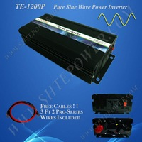 Free Shipping 1200w 12v/24v DC to 120v AC Pure Sine Wave Power Inverter