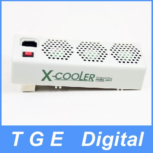 Free Shipping! New White Cooler Cooling 3 Fans for Microsoft XBOX 360 X-360(China (Mainland))