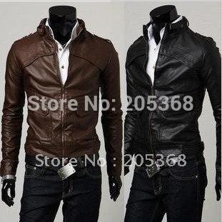 Dark Brown Leather Jackets - Jacket