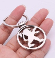 car logo Metal leather car mark key chain pendant lock the car supplies
