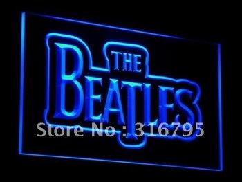c012-b The Beatles Band Music Logo Bar Neon Light Sign