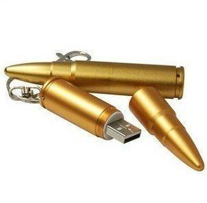 Free shipping Wholesale full capacity Metal Bullet Shape Genuine 4GB 8GB 16GB 32GB USB Memory Stick Flash Pen Drive USB191T2