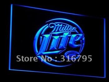 a016-b Miller Lite Beer Displays logos Neon Light Sign