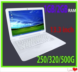 13.3&quot; new laptop cheap mini Air the best notebook laptops N455 1.66GHZ 1GB 250GB INTEL 945GSE+ICH7M 3pcs(China (Mainland))