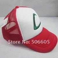 free shipping Pikachu Ash Katchum Hat Cap Cosplay Anime Baseball cap  Sun hat 001