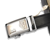 Free shipping 2011 New-Men's Septwolves Belts 100% Genuine Leather Auto black 7A1105500-1 hot selling!