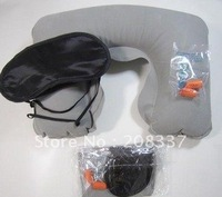 Hot! 4pcs/lot Free Shipping Wholesale three tourists treasures,steam pillow,eyeshade and earplug for travelling,novel IVU gift