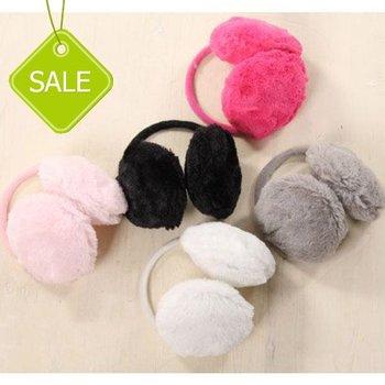 HOT! 5pcs/lot  Fall Winter Rabbit Plush warm ear cover  earmuffs 10 colors  Free Shipping