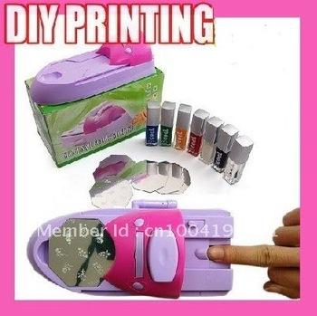 Nail design diy nail art sting printing machine polish template