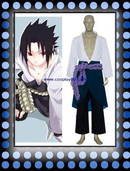 Naruto Uchiha Sasuke Halloween Cosplay Costume(free shipping)