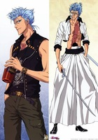 Free shipping Bleach Grimmjow Jeagerjaques Hugging pillow Case #191(full color)