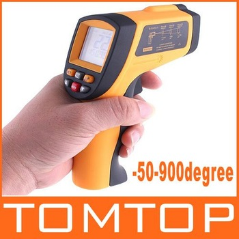 Non-Contact Laser IR Thermometer -50-900degree w/ Alarm & MAX/MIN/AVG/DIF ,freeshipping dropshipping,H4329