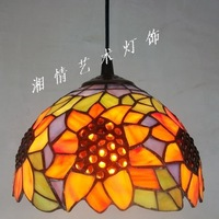 Pastoral style 20CM sunflower pendant Tiffany lamp, table lamp