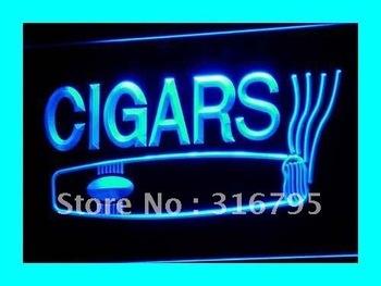 i073-b OPEN Cigars Cigarette Bar Lure Neon Light Sign