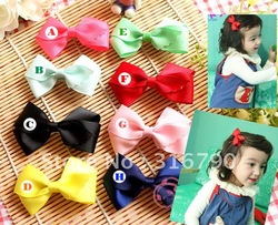 Wholesale 10pcs / lot Baby Toddler Hair Bows tie Clips baby hair accessory Style#002 (U pick color)(China (Mainland))
