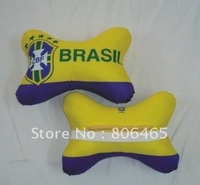 Car seat,headrest automotive car pillow,Brasil football car pillow,10pcs