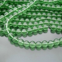 FREE SHIPPING 330PCS 10mm Green Color Clear Crystal Glass Beads / Round Crystal Beads