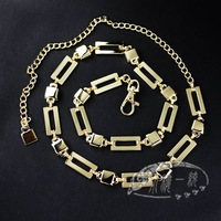 Free shipping Hot-sale imported high-quality Ladies GOLD / SILVER Toned Metal Chain Link Belts  aBT-D013a
