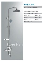 Free shipping Luxury Bathroom Chrome Shower Set Shower Faucet With 5 Year Warranty TL-1535