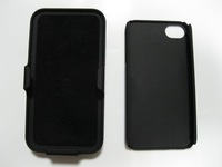 RUBBERIZED BLACK Slide Case+Belt Clip Swivel Stand Holster for iP 4