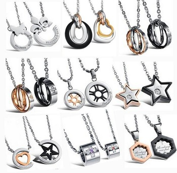 Mixed Order Fashion Jewelry Wholesale Pendant Jewellery titanuim stainless steel Pendant Necklace 10pc/lot FREE SHIPPING DHL EMS