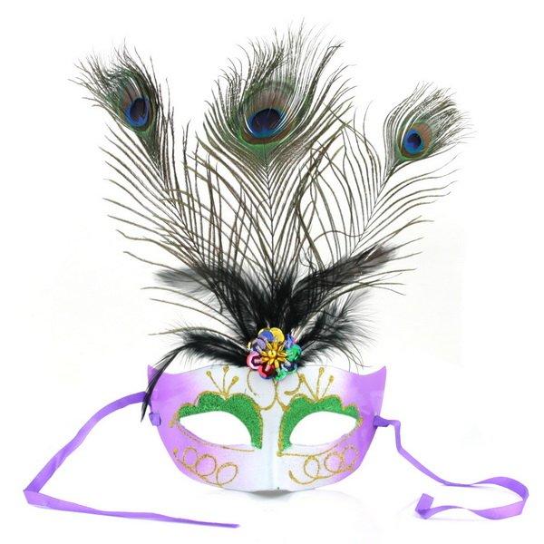 Eye Mask With Feathers Feather Glitter Eye Mask