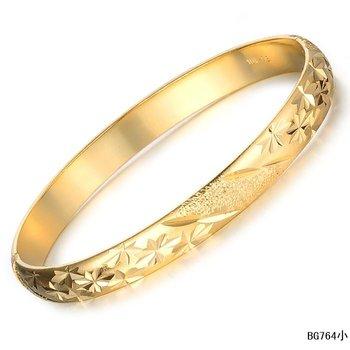 New Fashion Bridal jewellery Fashion BRACELET 18K GOLD BANGLES 8MM bracelet bangle GP FREE SHIPPING 764