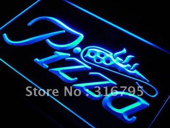 i127-b Pizza Shop Slice Display Shop NR Neon Light Sign