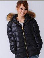 New arrival Free shipping Fashion brand lady winter overcoat,designer jacket/coat,with belt ,Black