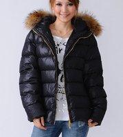 New arrival Free shipping Fashion brand women'designer jacket/coat,fur coat/jacket,with belt ,Black