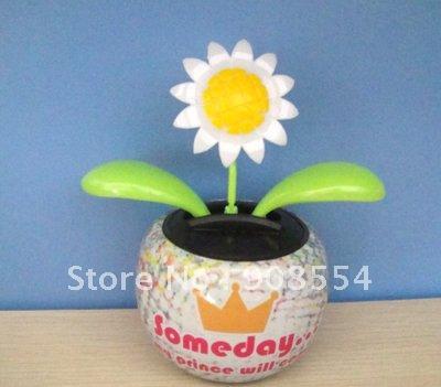Wholesale 10Pcs Per Lot Free Shipping Via China Post Air Mail Flip Flap Solar Dacning Flowers(China (Mainland))
