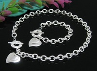 EVYSTZ (98) Hight quality silver heart jewelry sets for bride fashion wedding jewelry jewellery sets costume jewelry gift