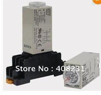 AC 220V Delay Timer Time Relay 0~60 Second H3Y-2 & Base