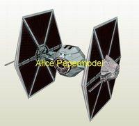 [Alice papermodel]Starwars Imperial tie big gun fighter spaceship startrek starship models