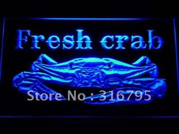 m102-b Fresh Crab Restaurant Neon Light Sign