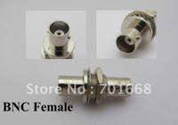 100 Pcs Per Lot / BNC Female Jack to BNC Female Jack with nut bulkhead straight adapter