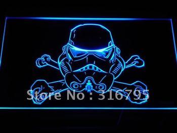 g117-b Stormtrooper helmet Star Wars Neon Light Sign