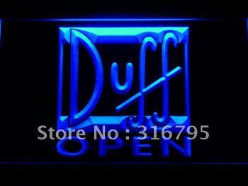 055-b Duff Beer OPEN Bar Neon Light Sign