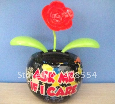 solar powered dancing flower toy 10pcs per lot Free shipping via China post air mail(China (Mainland))