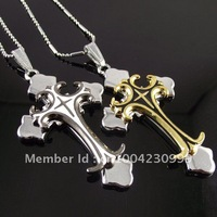 20pcs/lot necklace best selling stainless steel cross in cross pendant necklace cheap promotion wholesale retail