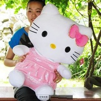 Hello Kitty plush toy  Christmas gift big size good as a gift factory supply the best quality and price(75cm) freeshipping