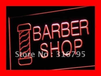 i005-r OPEN NEW Barber Shop Hair Cut Neon Light Signs