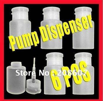 Freeshipping 30ML Pump Dispenser Bottle Of Nail Art Cleaning Tool  Pump Dispenser Nail Art Polish Remover 4oz Empty Bottle
