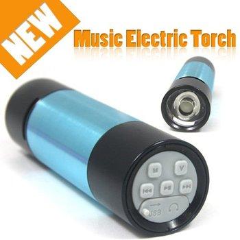 Sports 2GB 4GB 8GB Flashlight Mp3 Player Mini Bass Sound Speaker Stereo PS8