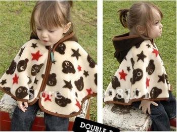 Baby supply age season coat bear modelling cardigan coat/cape/cloak children's coat